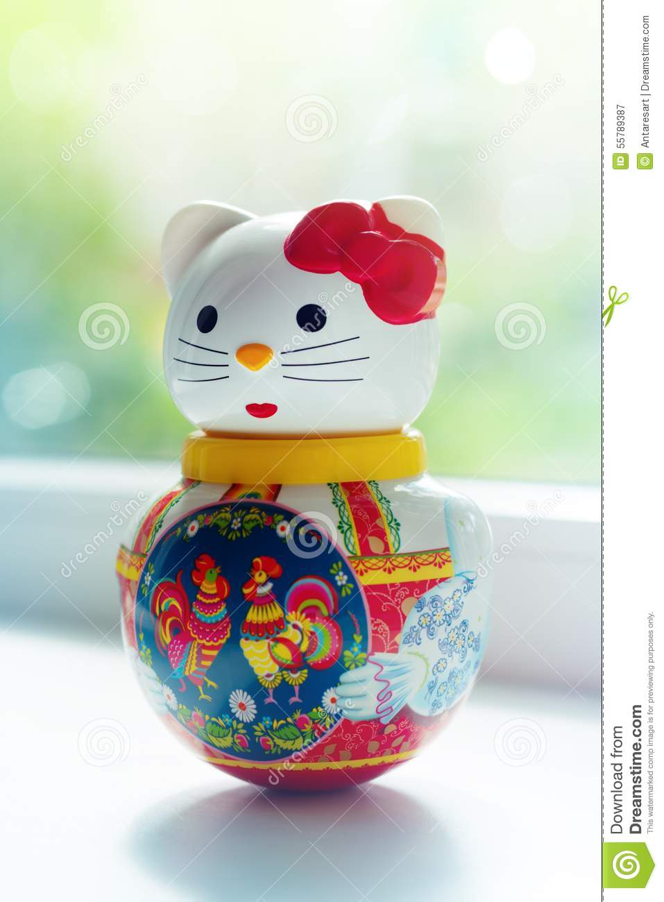 Doll Lucky Cat In Home Stock Photo Image 55789387
