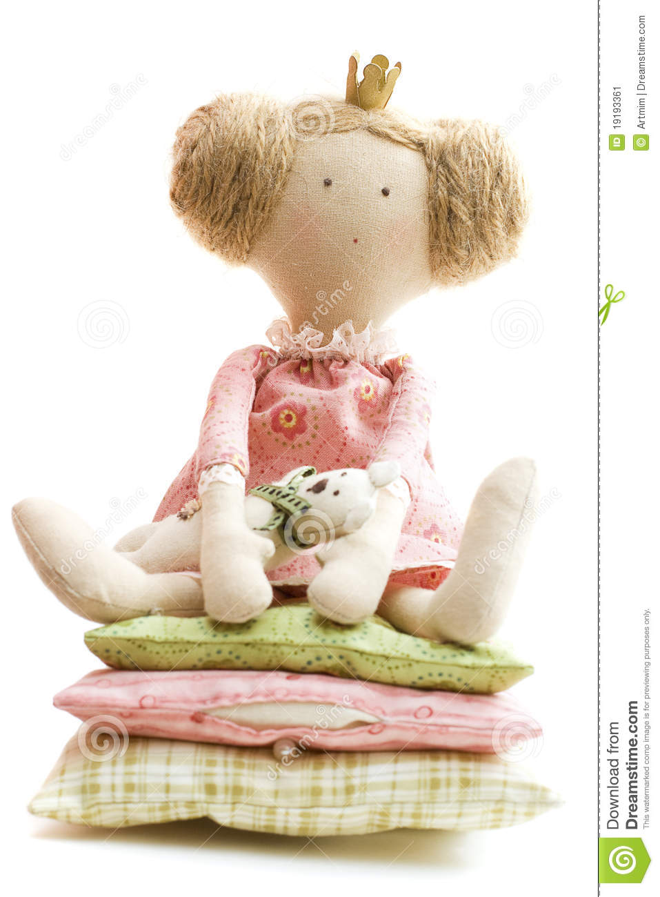 Doll Princess And The Pea Stock Image - Image: 19193361