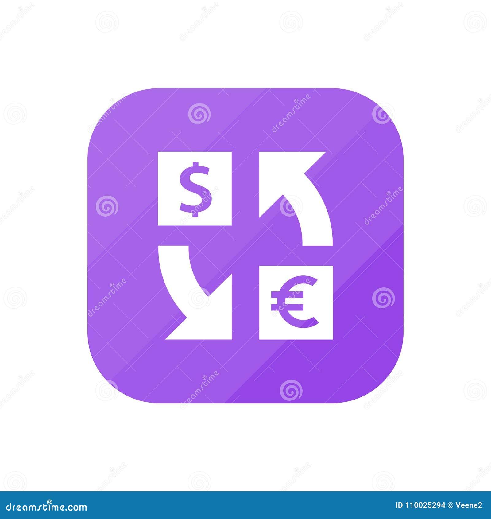 Dollar aan Euro App Pictogram
