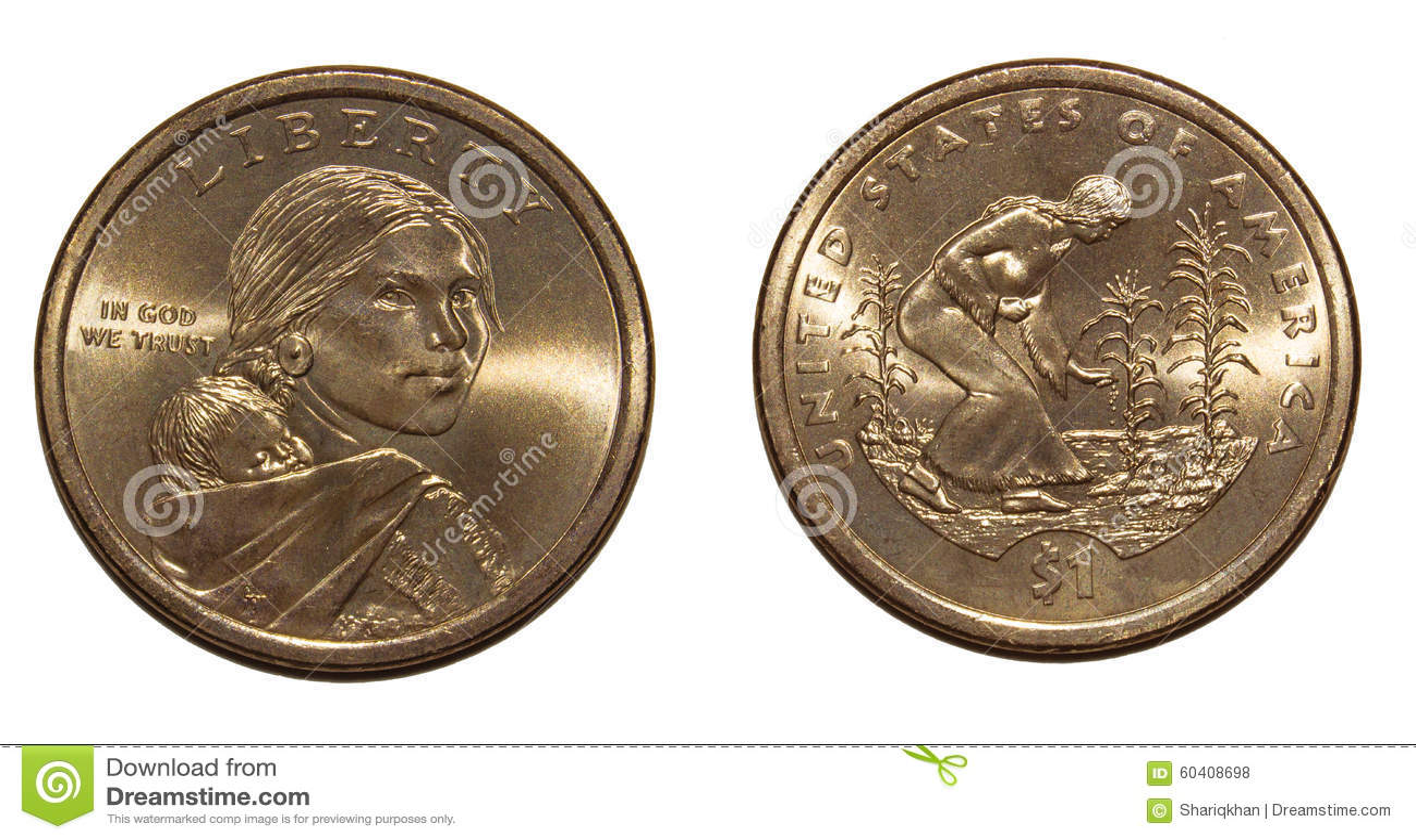 1 Dollar Amerika Stockfoto Bild Von George Geld Natürlichkeit