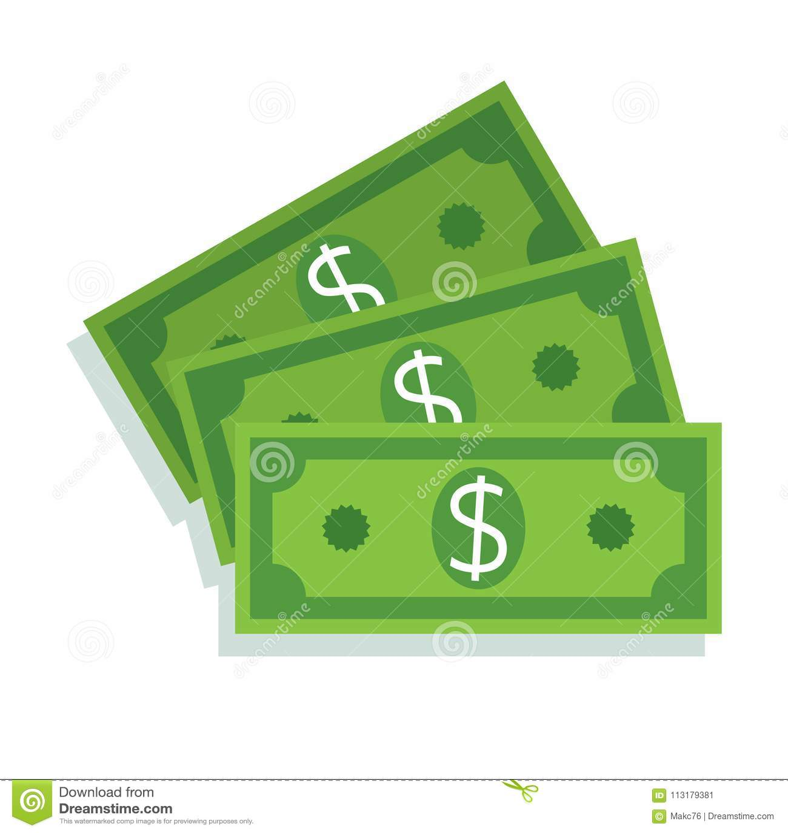 Dollar Bill Icon. Money Cash