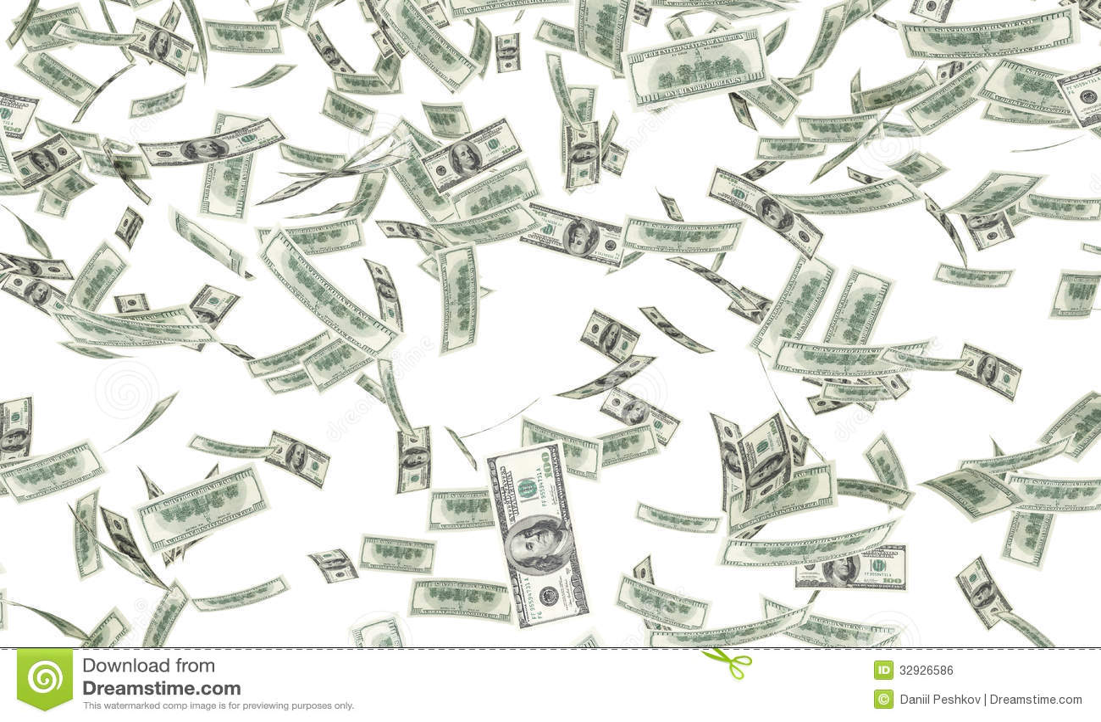 dollar bills falling stock photo image of hundred exchange 32926586