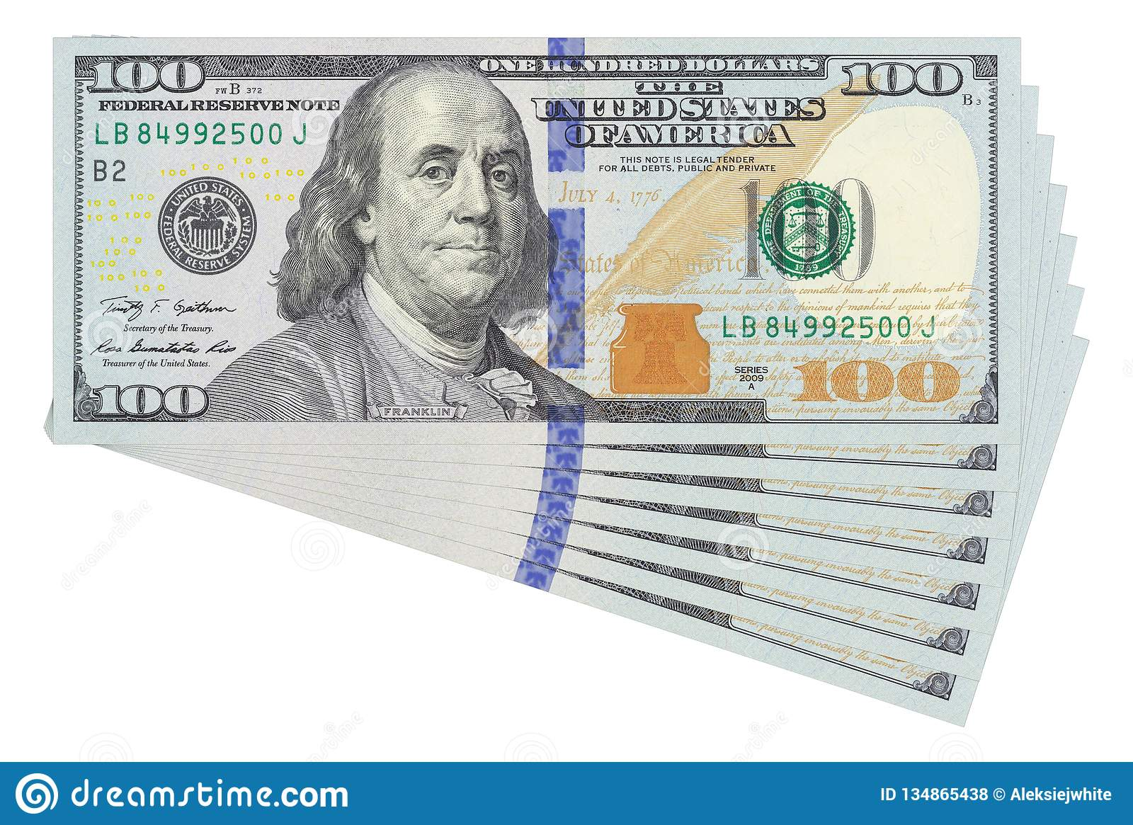 photo relating to 100 Dollar Bill Printable identify 100 Greenback Charges Upon White Historical past Isolated. Business office