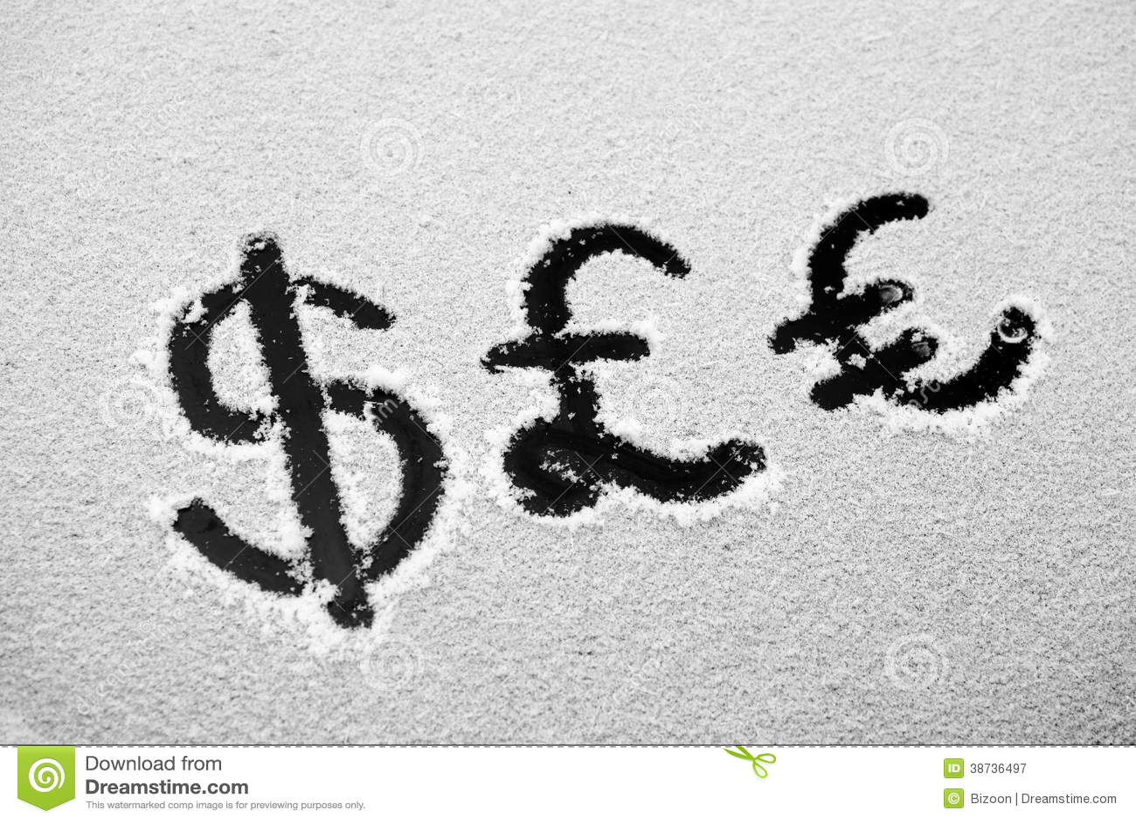 Dollar British Pound And Euro Sign Stock Illustration