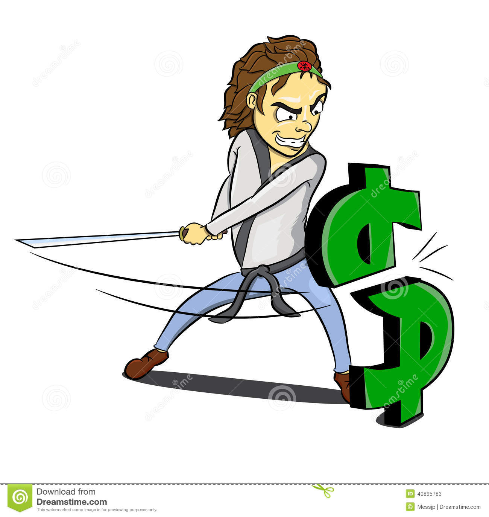 Dollar de barre oblique de ninja de karaté