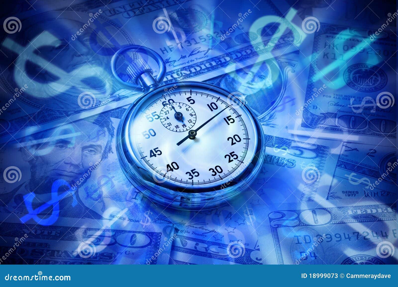 Dollar de montre d argent de temps d affaires