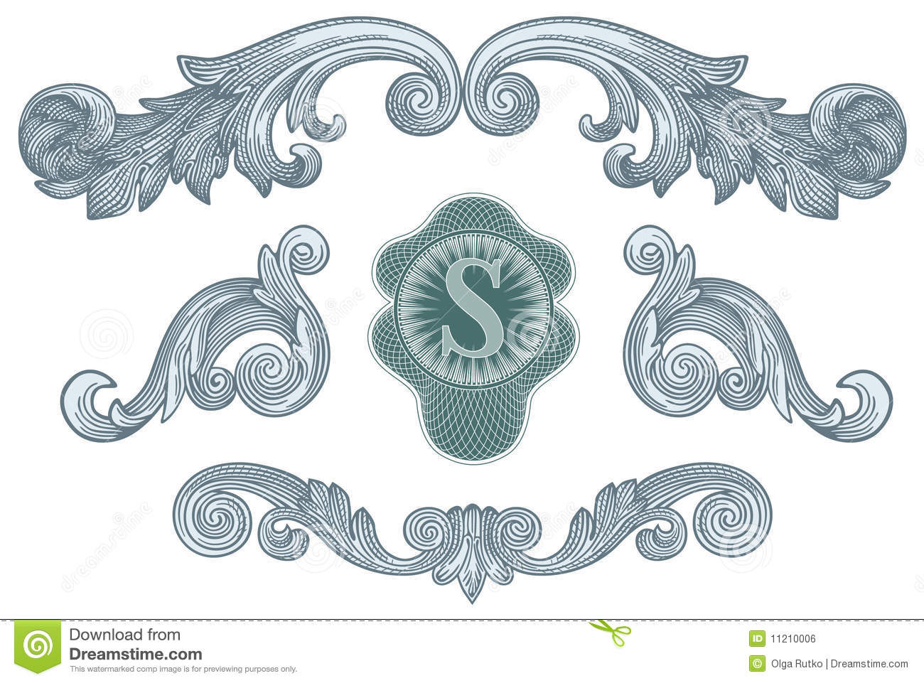 Dollar Design Elements Vector Stock Vector