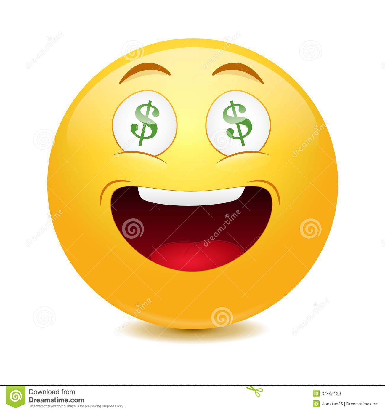dollar emoticon stock vector illustration of icon luck