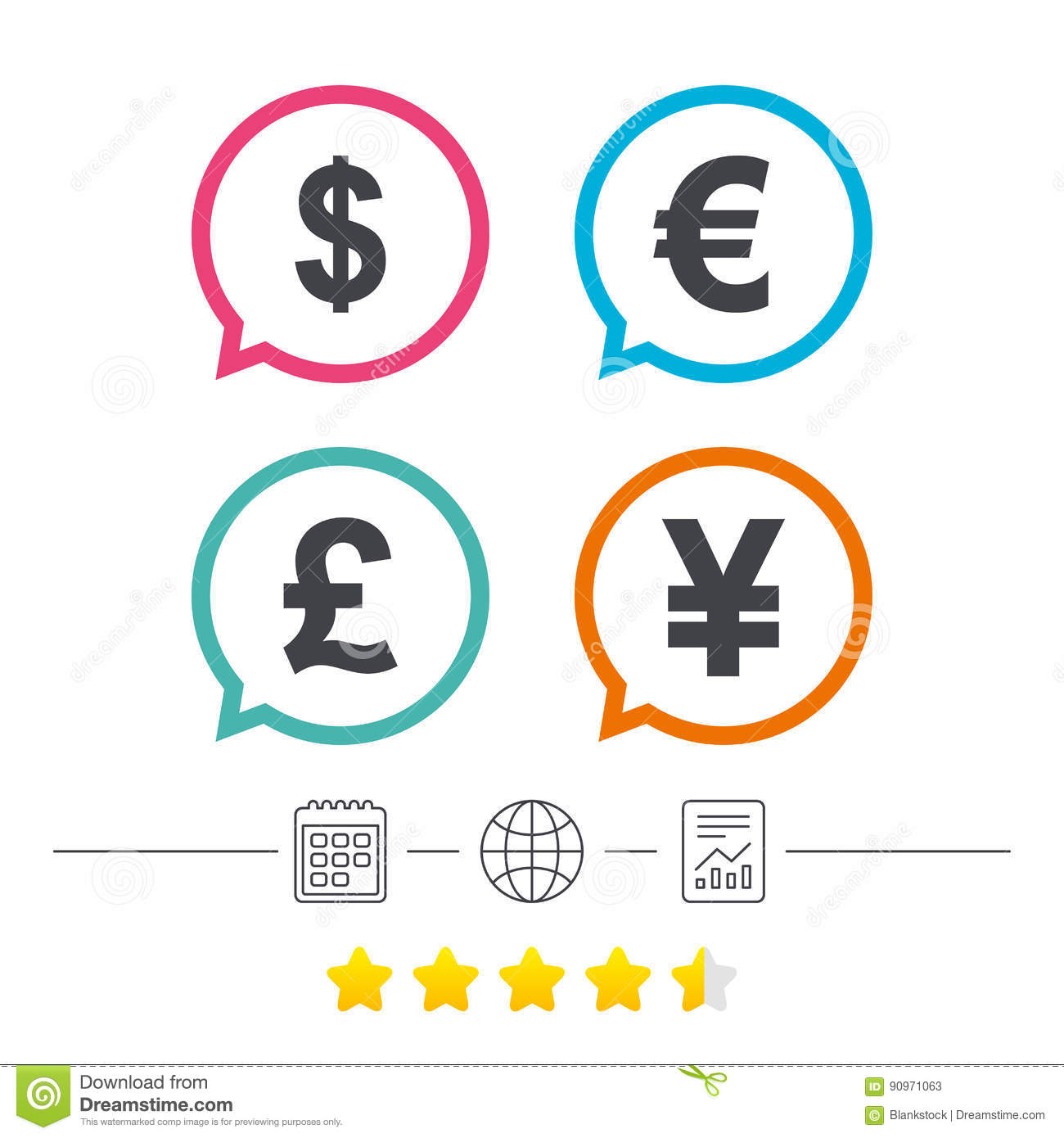 Dollar euro pound and yen currency icons stock vector dollar euro pound and yen currency icons biocorpaavc Gallery