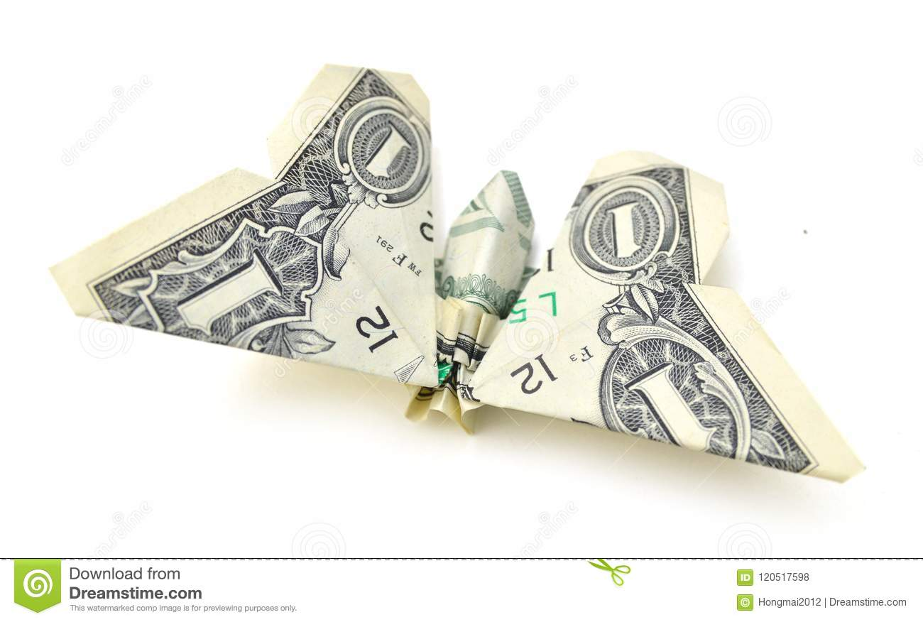 Money Origami Butterfly Insect Folded Real Stock Photo (Edit Now ... | 876x1300