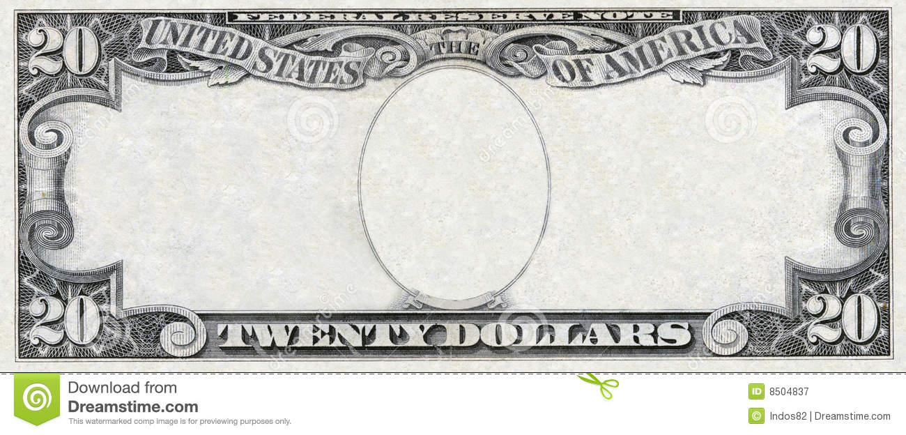 Blank 20 Dollar Bill Template Blank 20 Dollar Bill Template