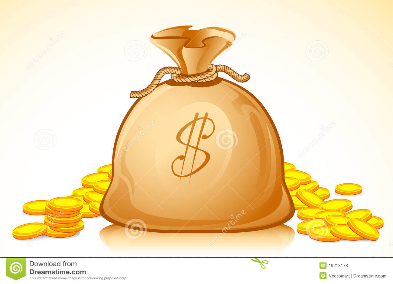 Dollar Money Bag Royalty Free Stock Photos - Image: 19213178