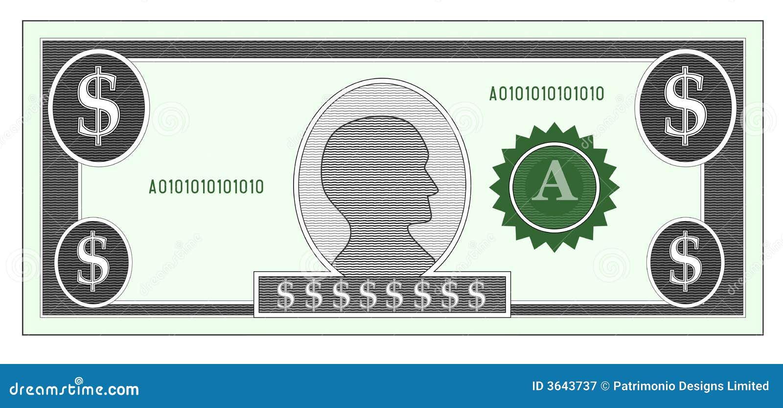 Dollar Money Bill Royalty Free Stock Photography - Image: 3643737