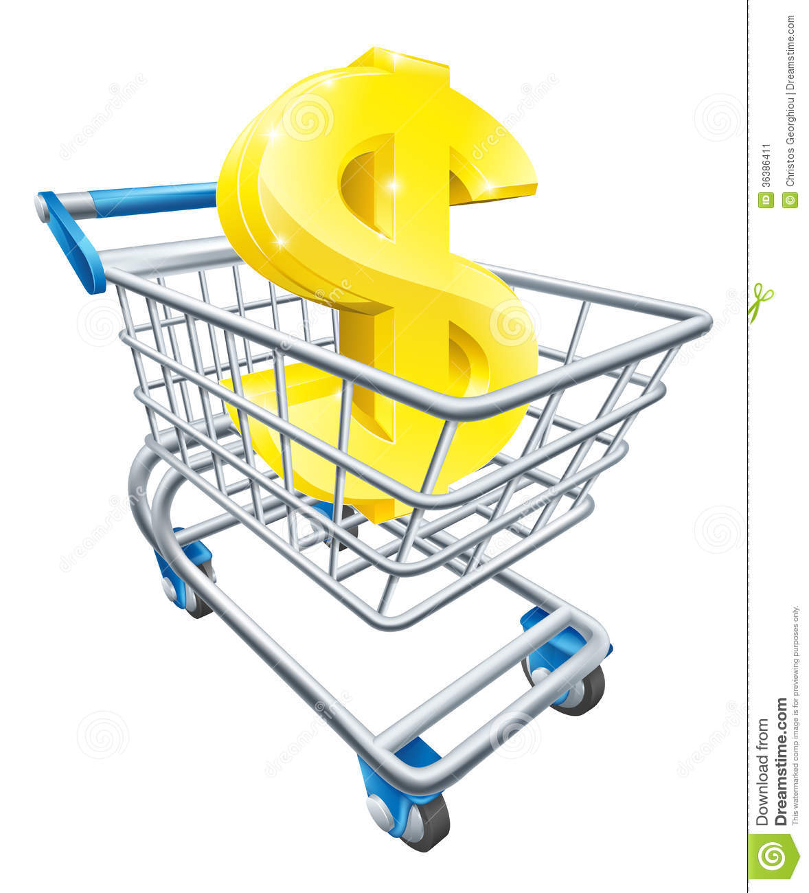 dollar money trolley concept stock vector illustration of rh dreamstime com Store Clip Art Grocery Shopping Clip Art