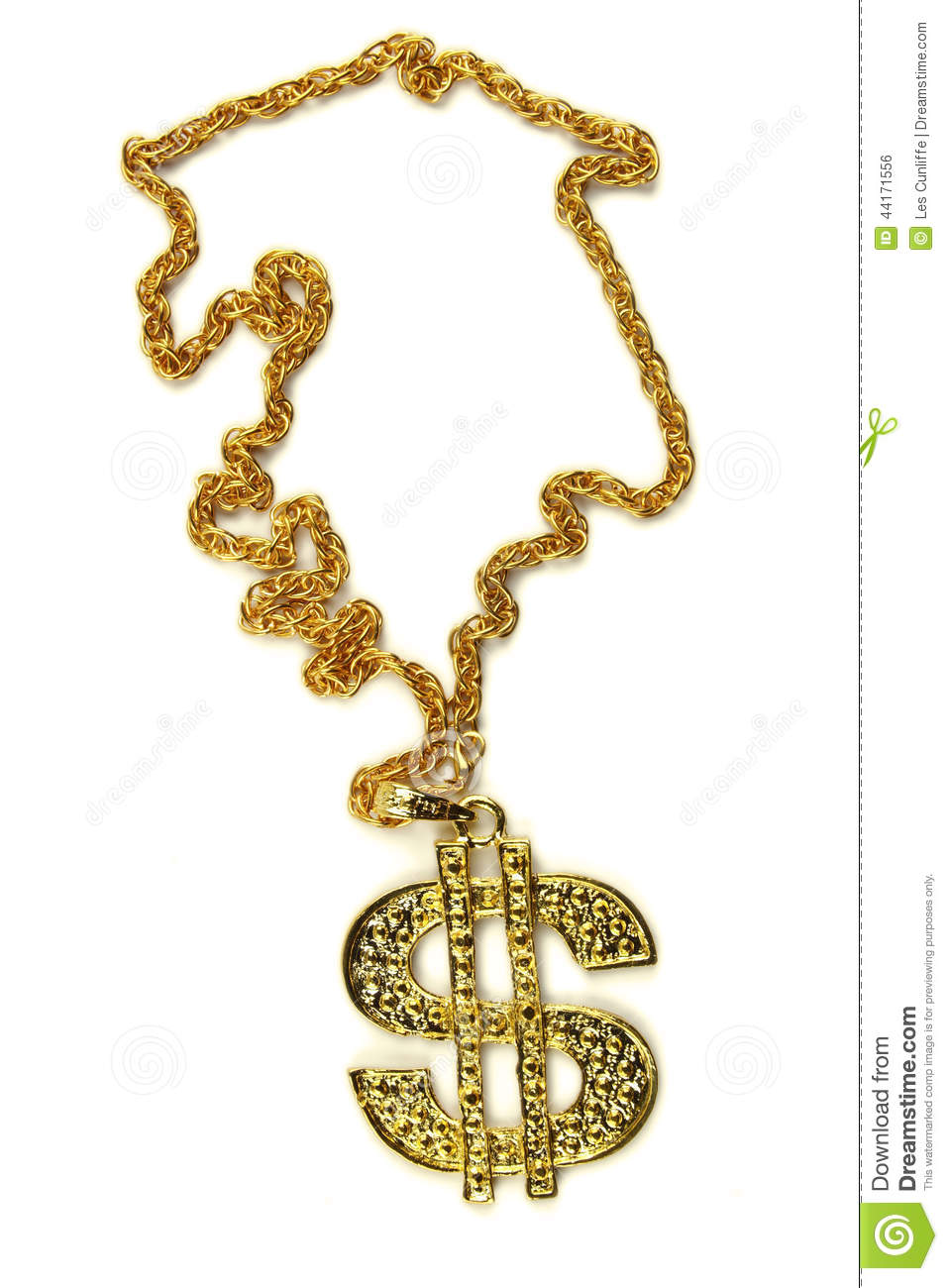 Dollar necklace stock photo image 44171556 for Dollar jewelry and more