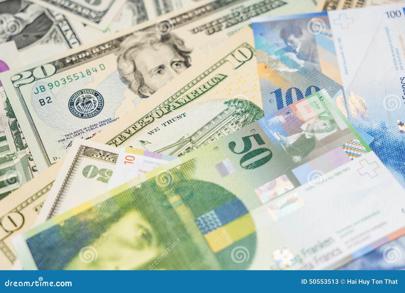 Dollar och schweizisk franc