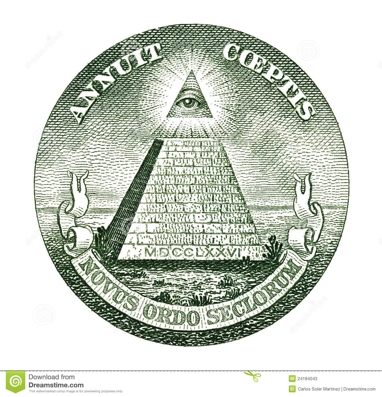 Dollar Pyramid Stock Photos - Image: 24184043
