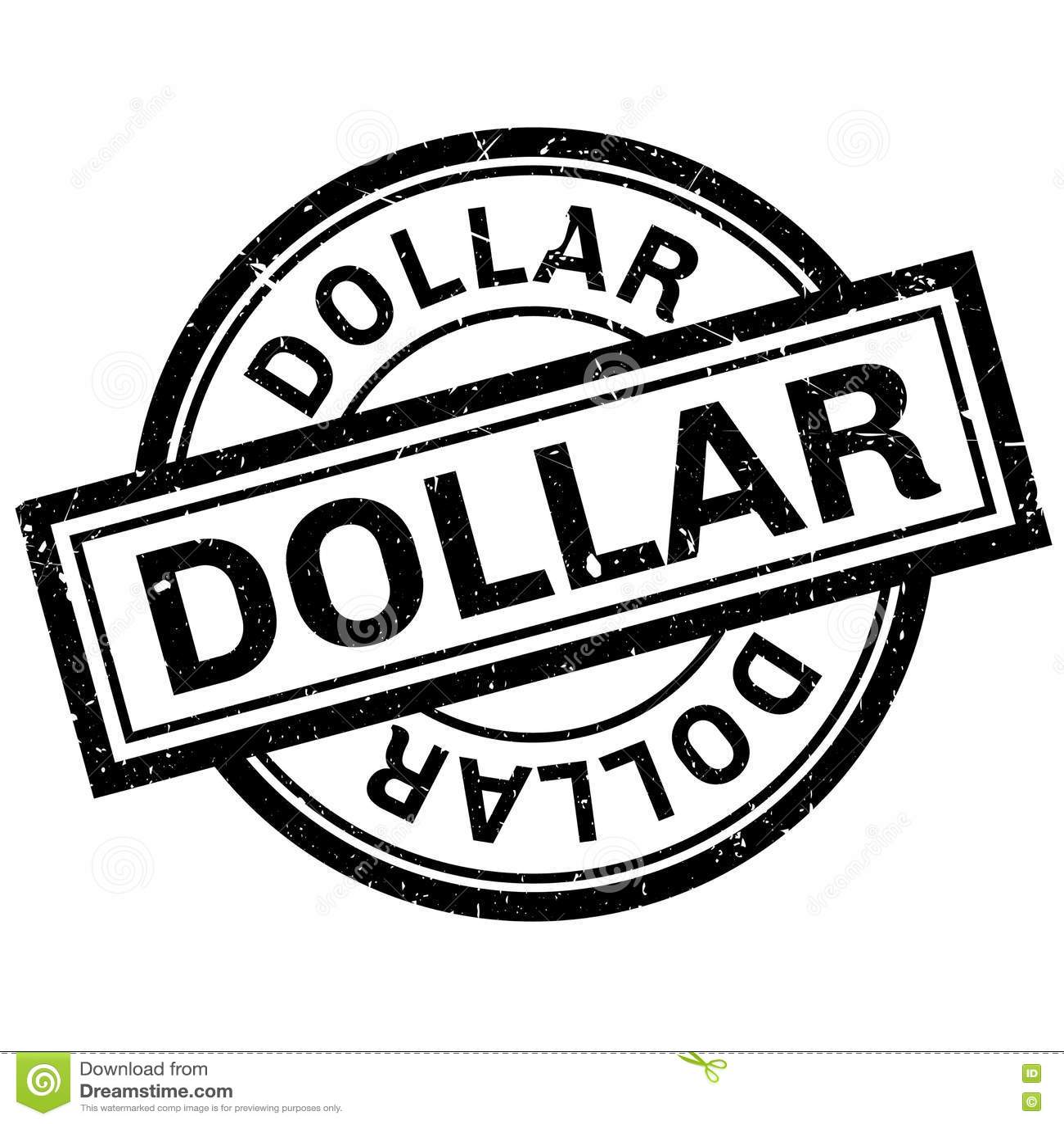 Dollar Symbol On Rubber Stamp Stock Image