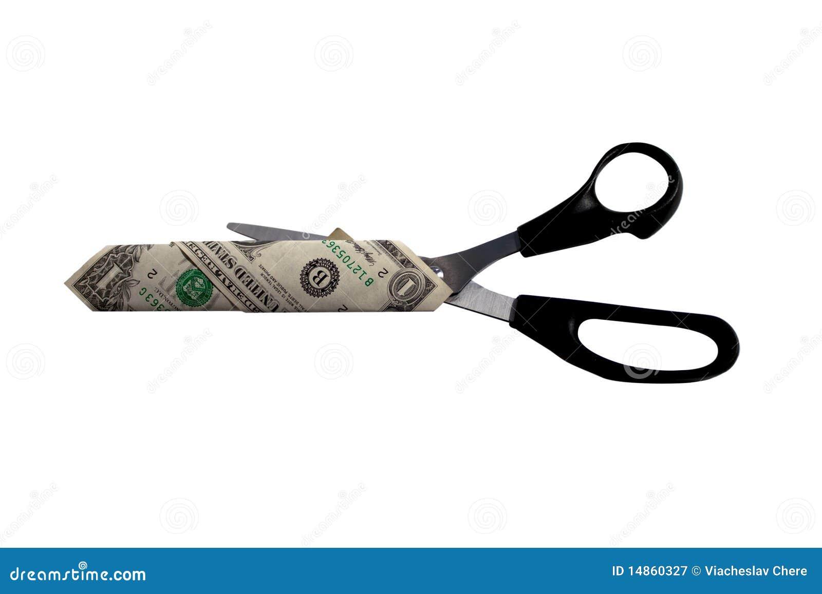 Dollar and scissors