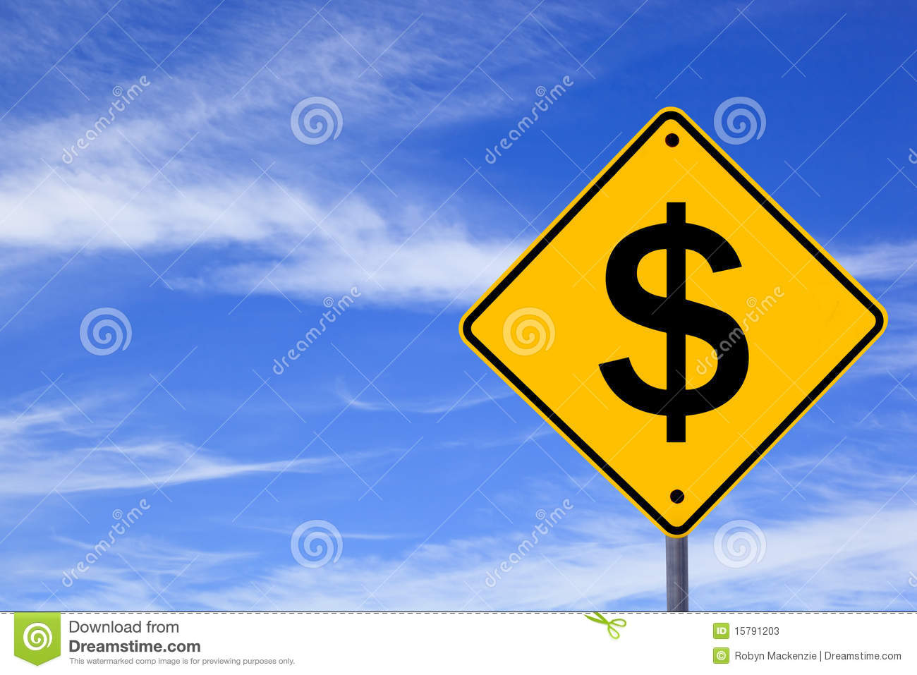 Download Dollar Sign stock image. Image of wispy, outdoors, sign - 15791203