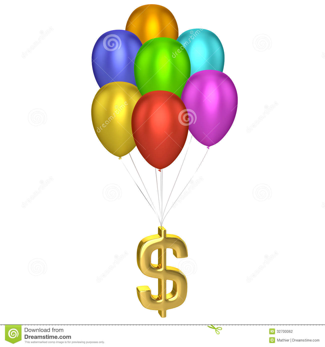 Dollar Sign With Balloons Stock Photography - Image: 32700062 Balloons Transparent