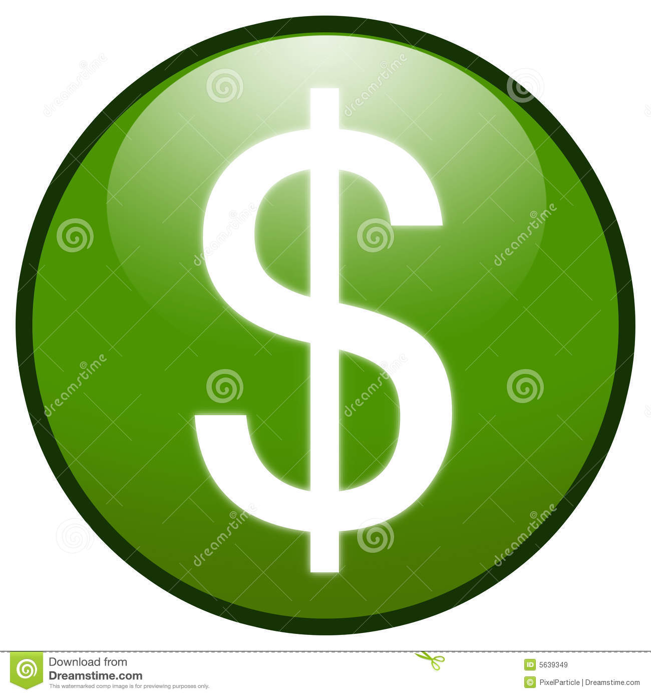 Dollar Sign Button Icon (green) Royalty Free Stock Images ...