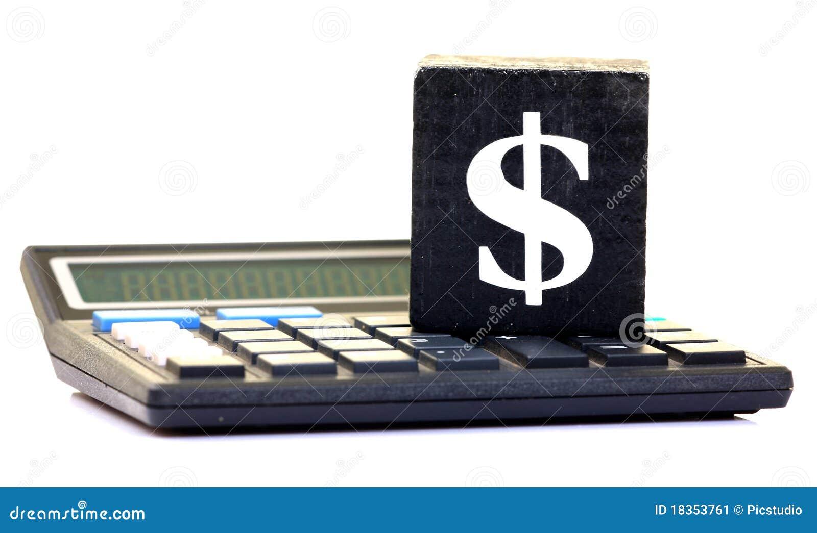 Dollar sign and calculator