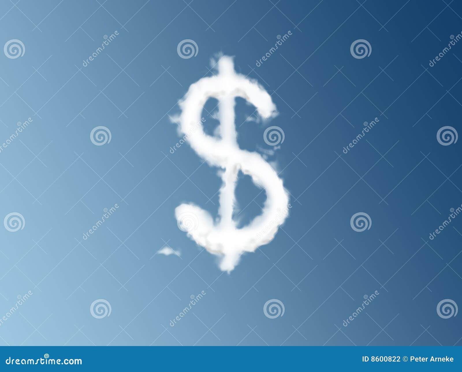 Dollar sign cloud