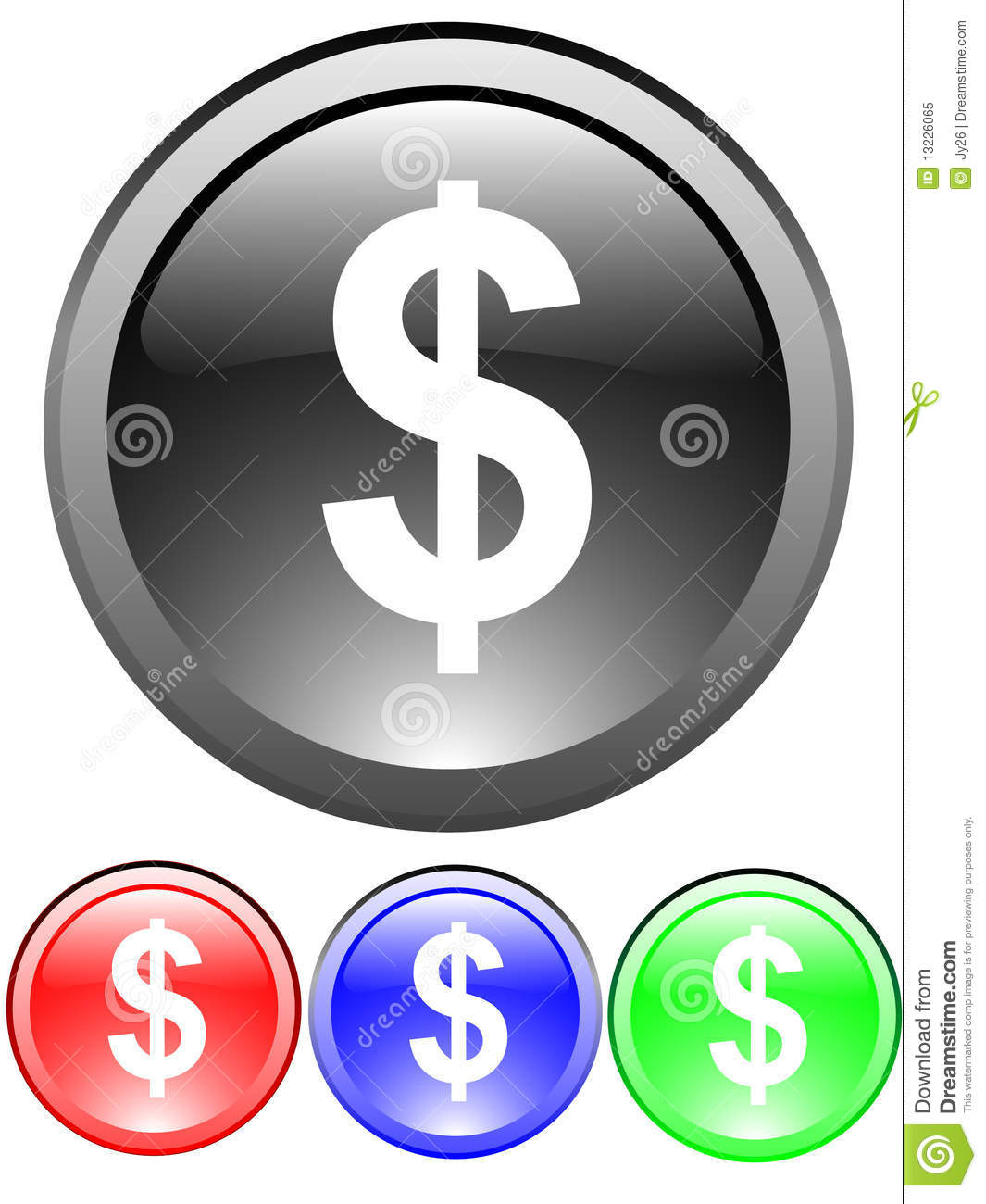 Dollar Sign Icon Royalty Free Stock Photo Image 13226065