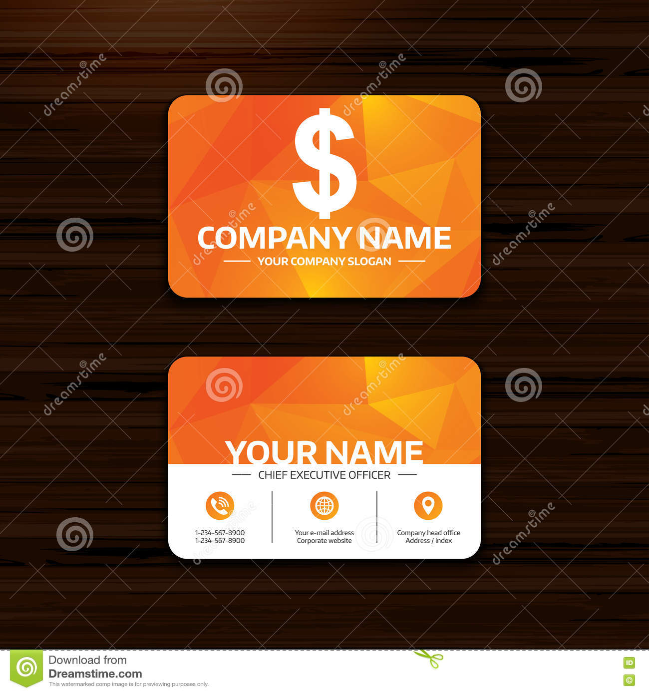 Dollar Sign Icon Usd Currency Symbol Stock Vector Illustration