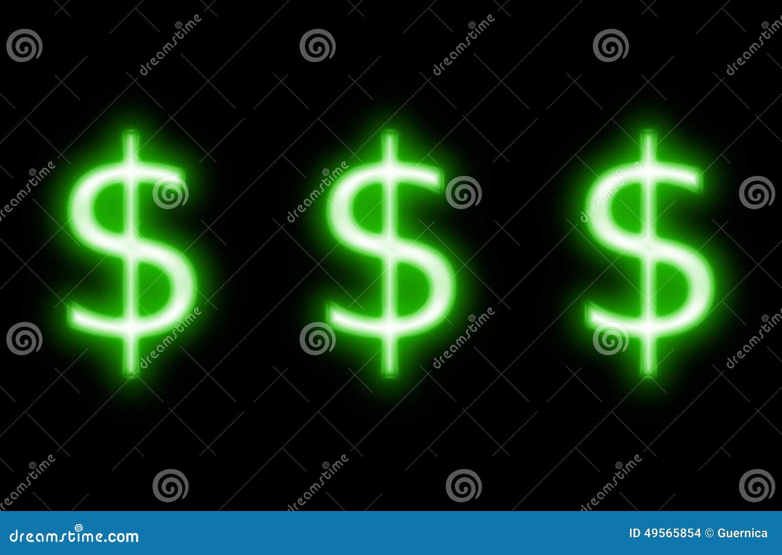 $ dollar sign neon