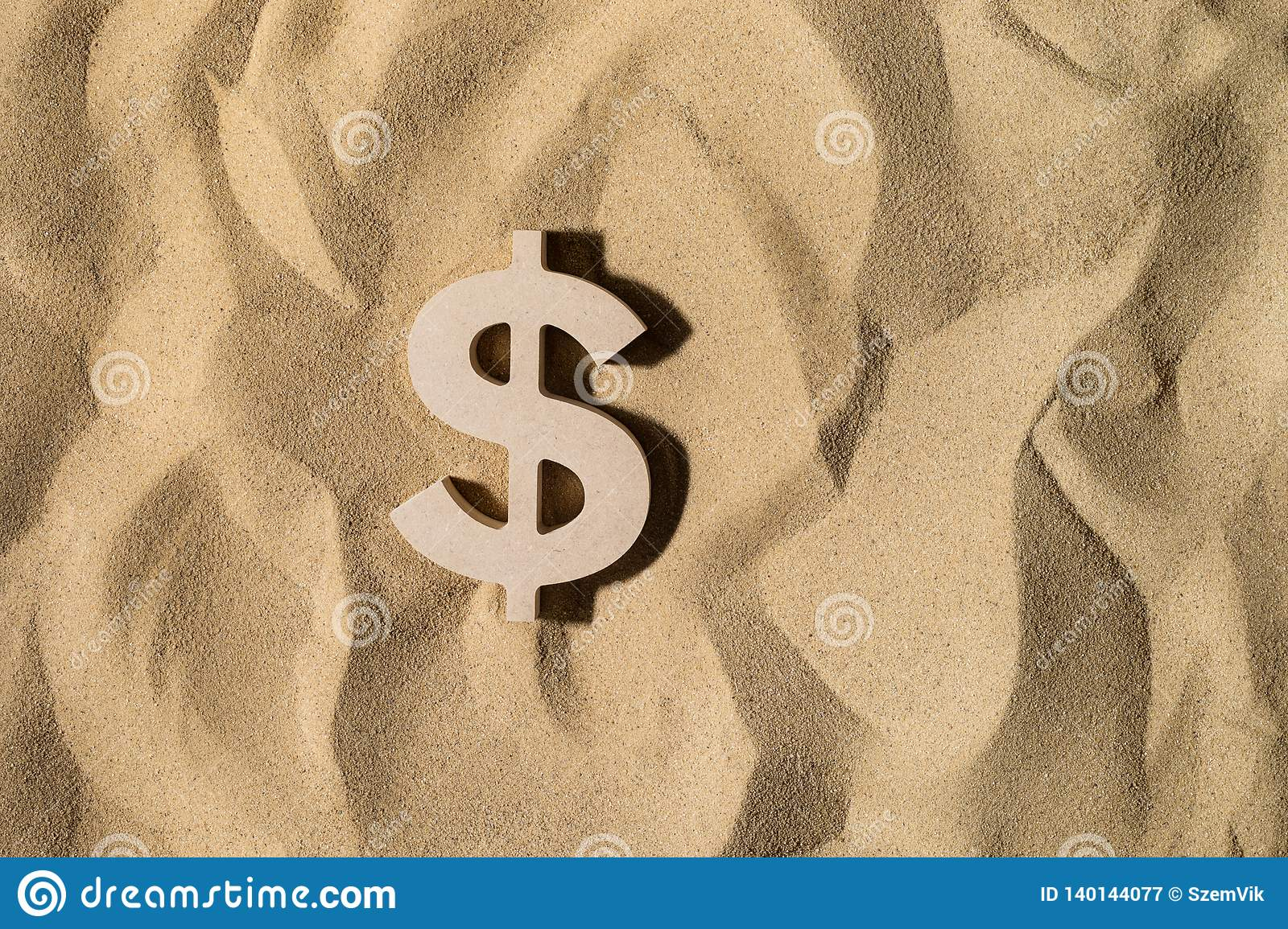 Dollar Sign On the Sand