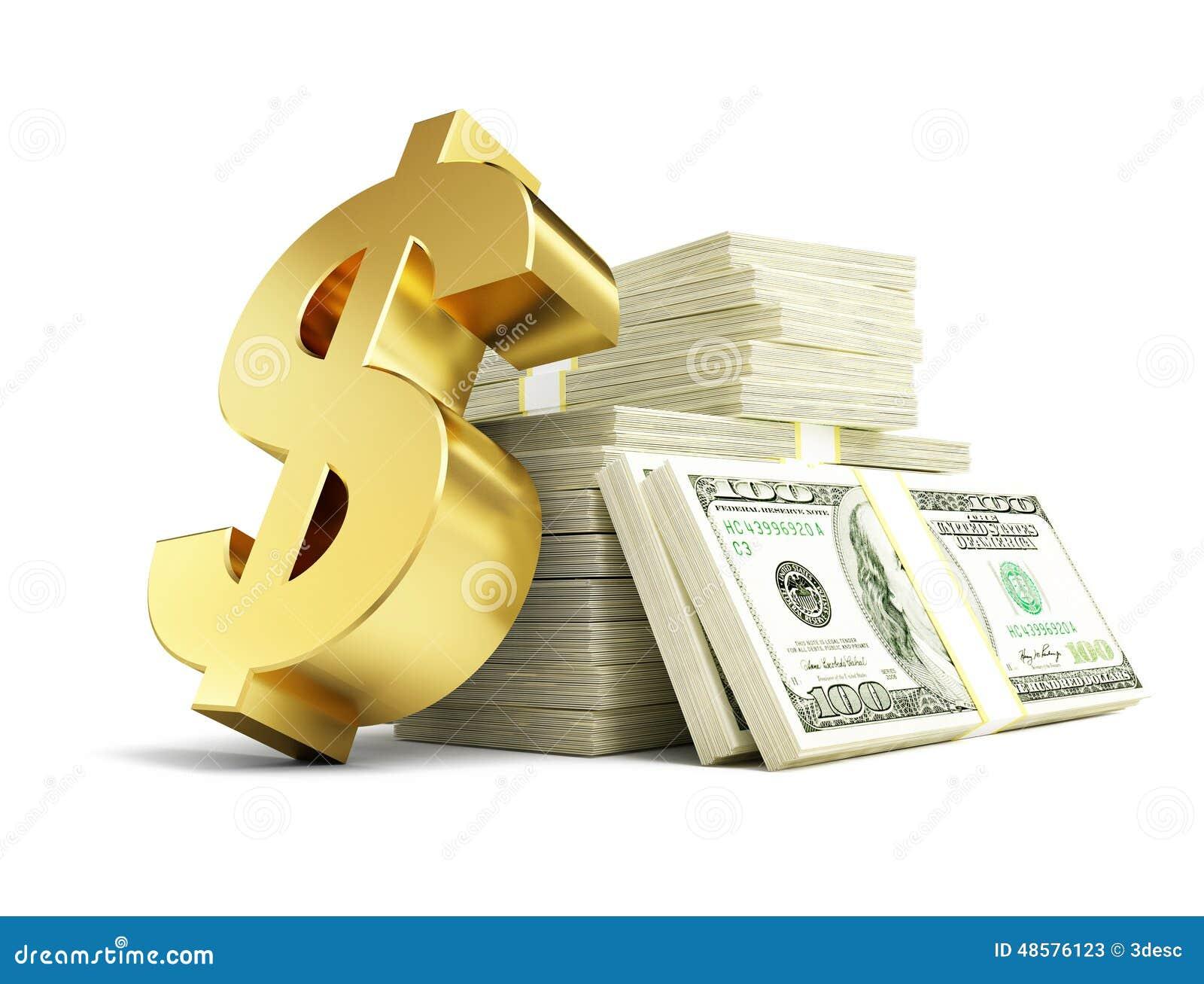 dollar sign stacks of dollars stock illustration image