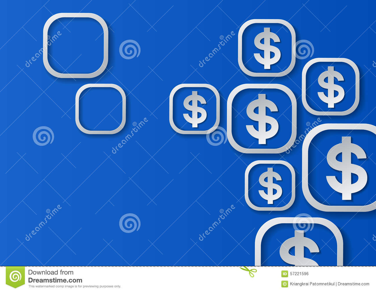dollar signs on blue background stock vector image 57221596