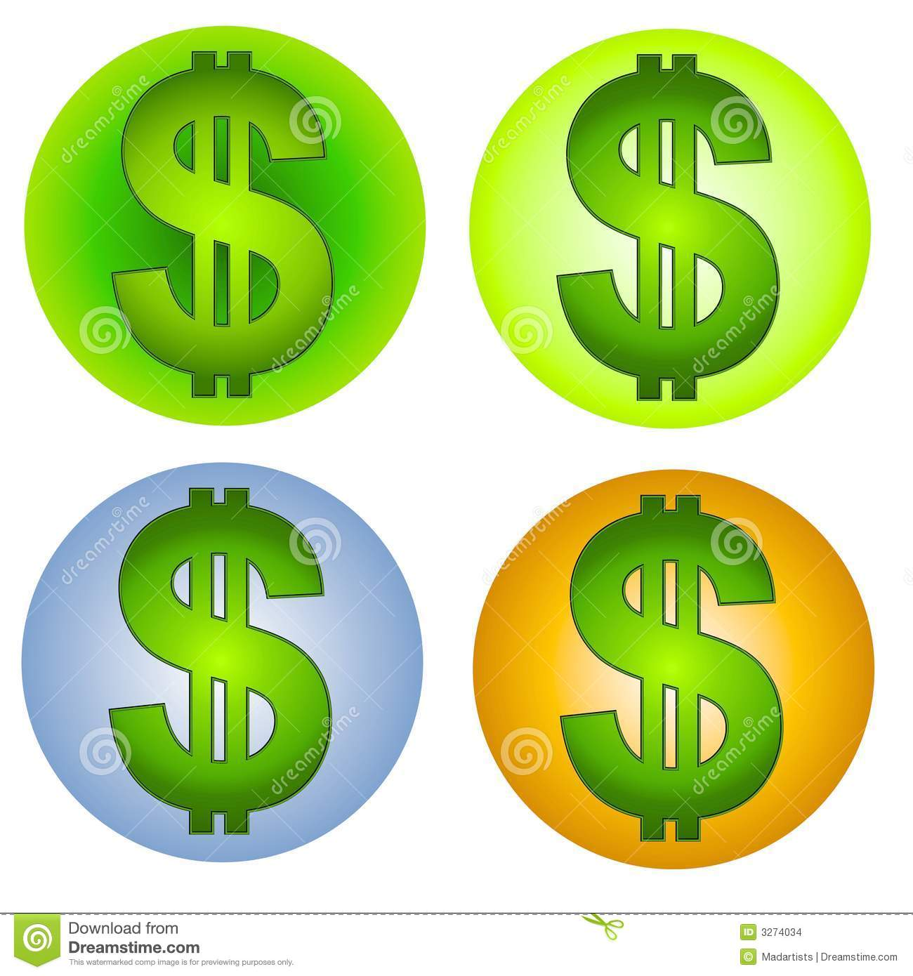 Free Stock Photos: Dollar Signs Money Clip Art 2 Picture. Image ...