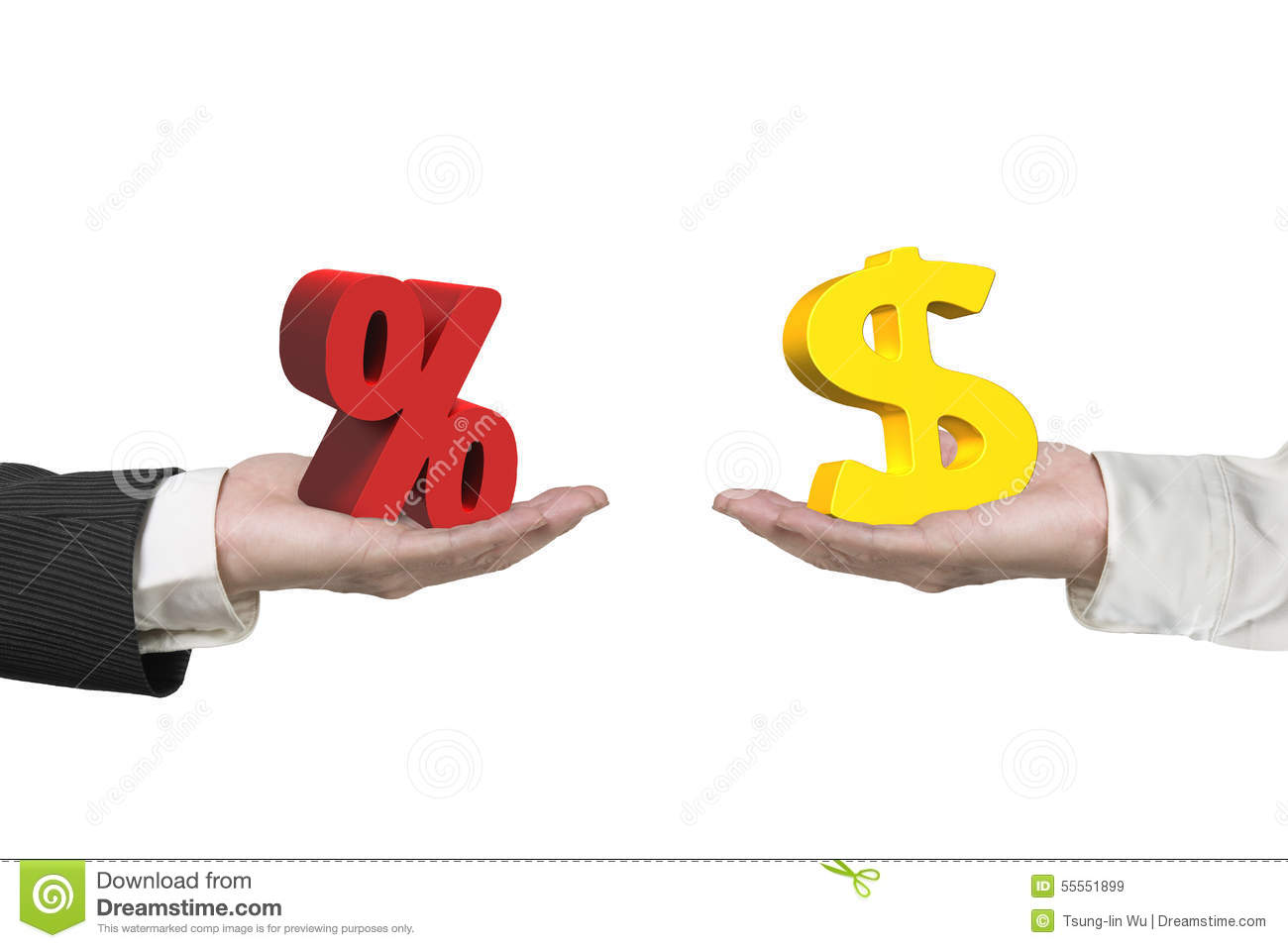 how to change percent to dollars