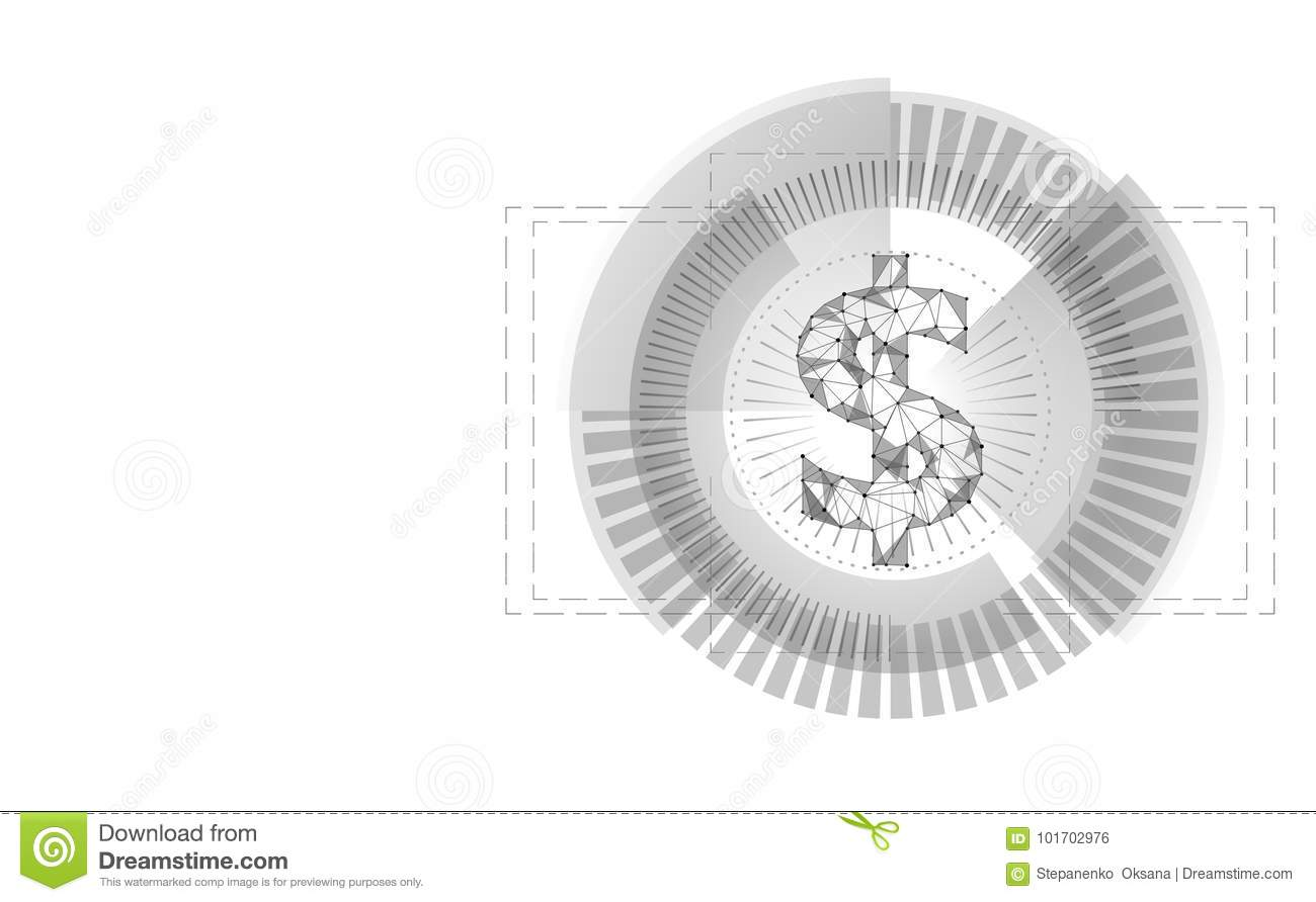 Dollar Target Hud Graph Interface Display American Currency Symbol