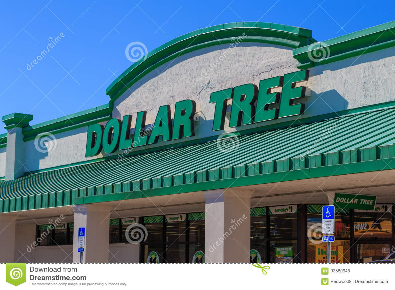 Download Dollar Tree Discount Store Sign Editorial Stock Photo