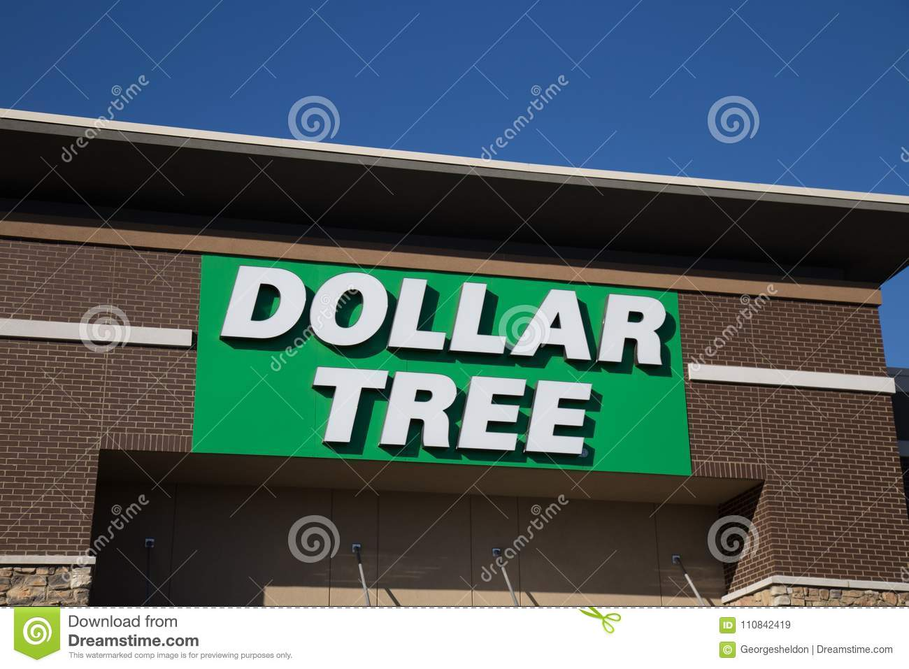 Download Dollar Tree Store Sign Editorial Stock Image Of Chain