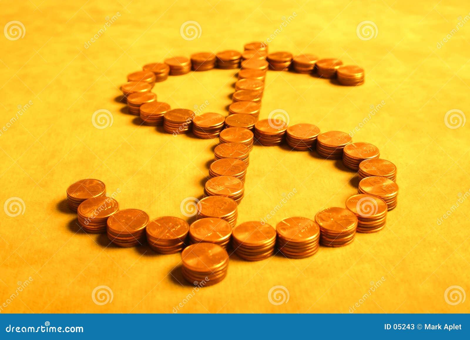 Dollar von den Cents