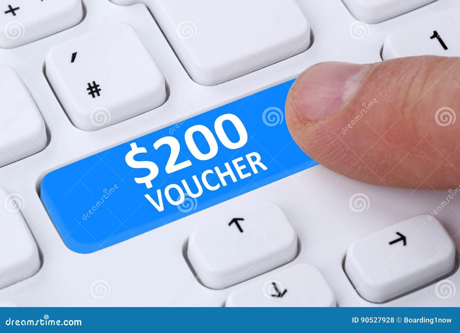 200 Dollar Voucher Gift Discount Sale Online Shopping E