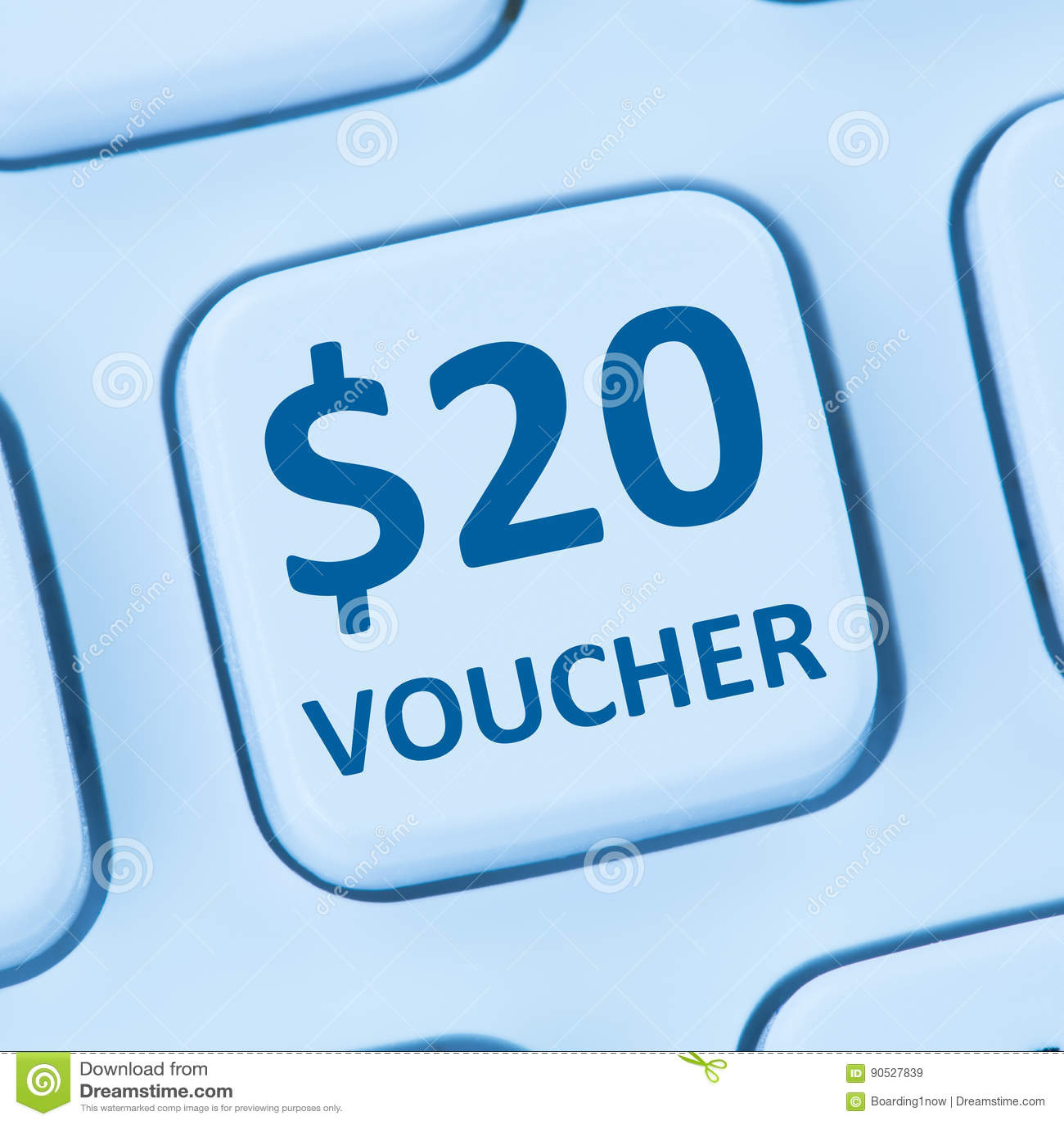 20 Dollar voucher gift discount sale online shopping internet st