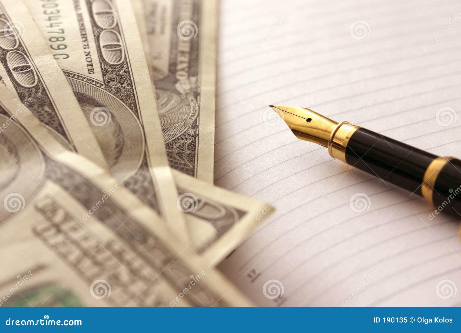 Dollari e penna