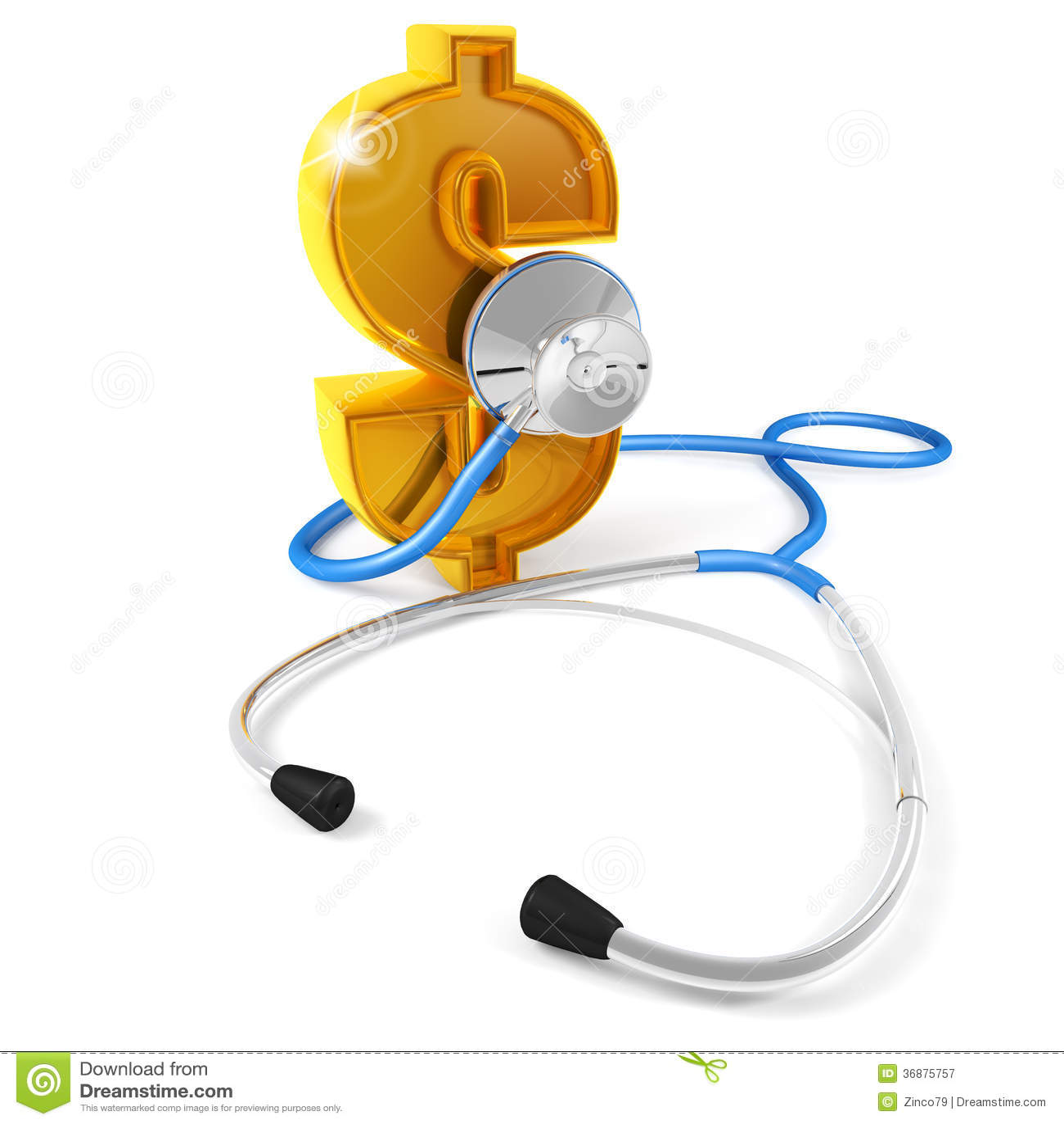 Download Dollaro dello stetoscopio illustrazione di stock. Illustrazione di apparecchiatura - 36875757