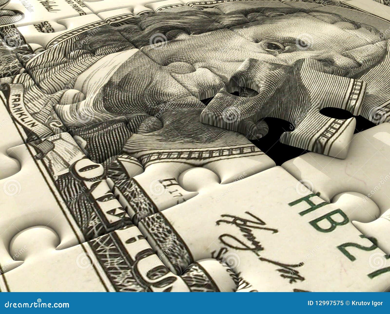 Dollaro us di puzzle del puzzle illustrazione di stock - Collegamento stampabile un puzzle pix ...