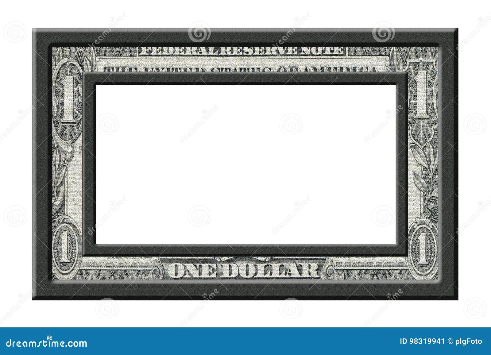 Dollarrahmen stock abbildung. Illustration von rahmen - 98319941