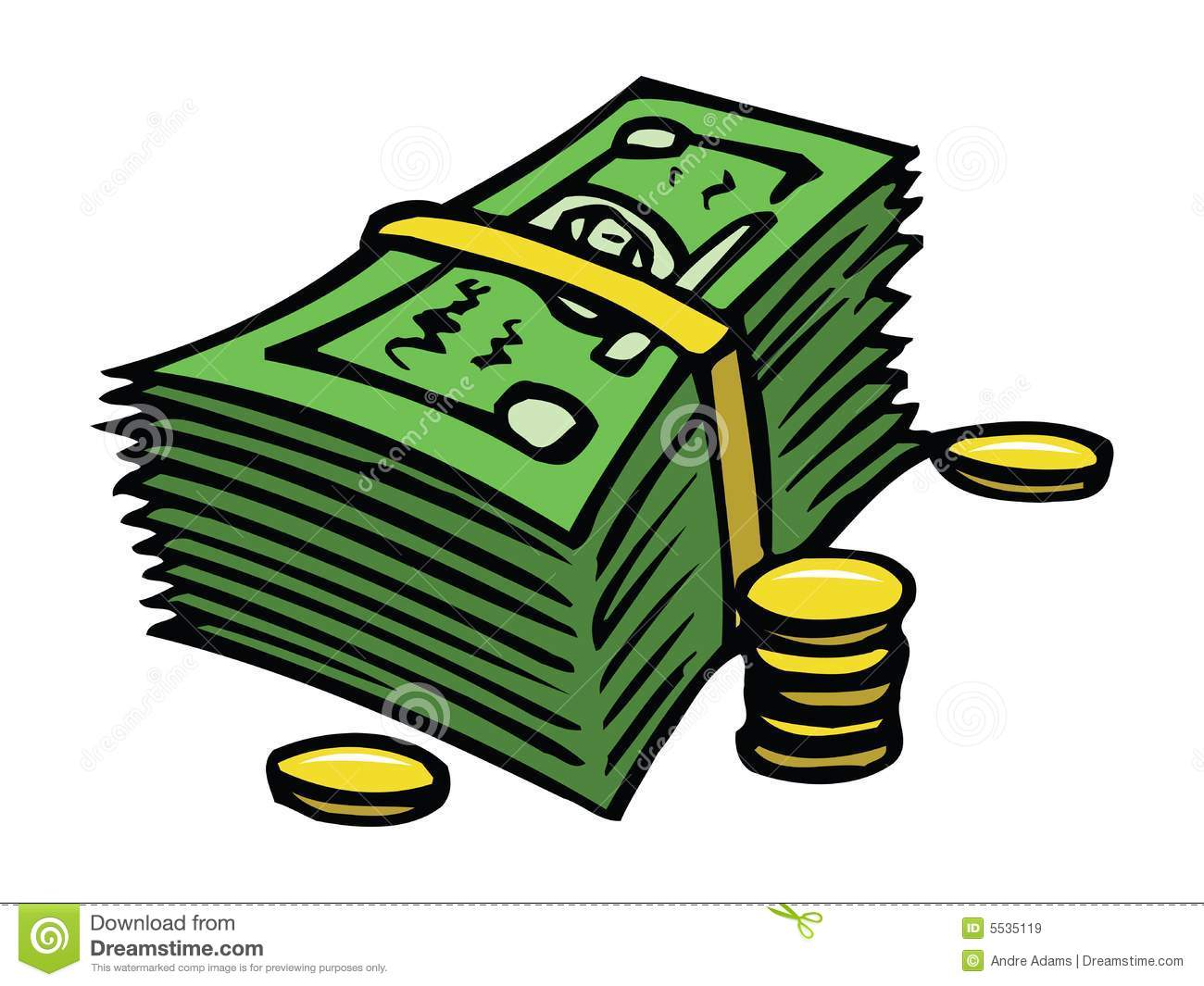 Dollars And Cents Royalty Free Stock Images - Image: 5535119