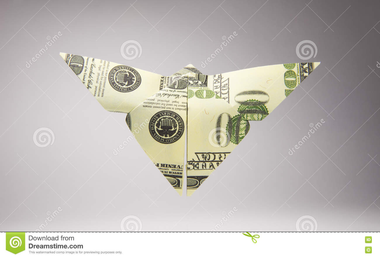 Origami Out Of Money In The Form Of A Cock Stock Photo, Picture ... | 883x1300