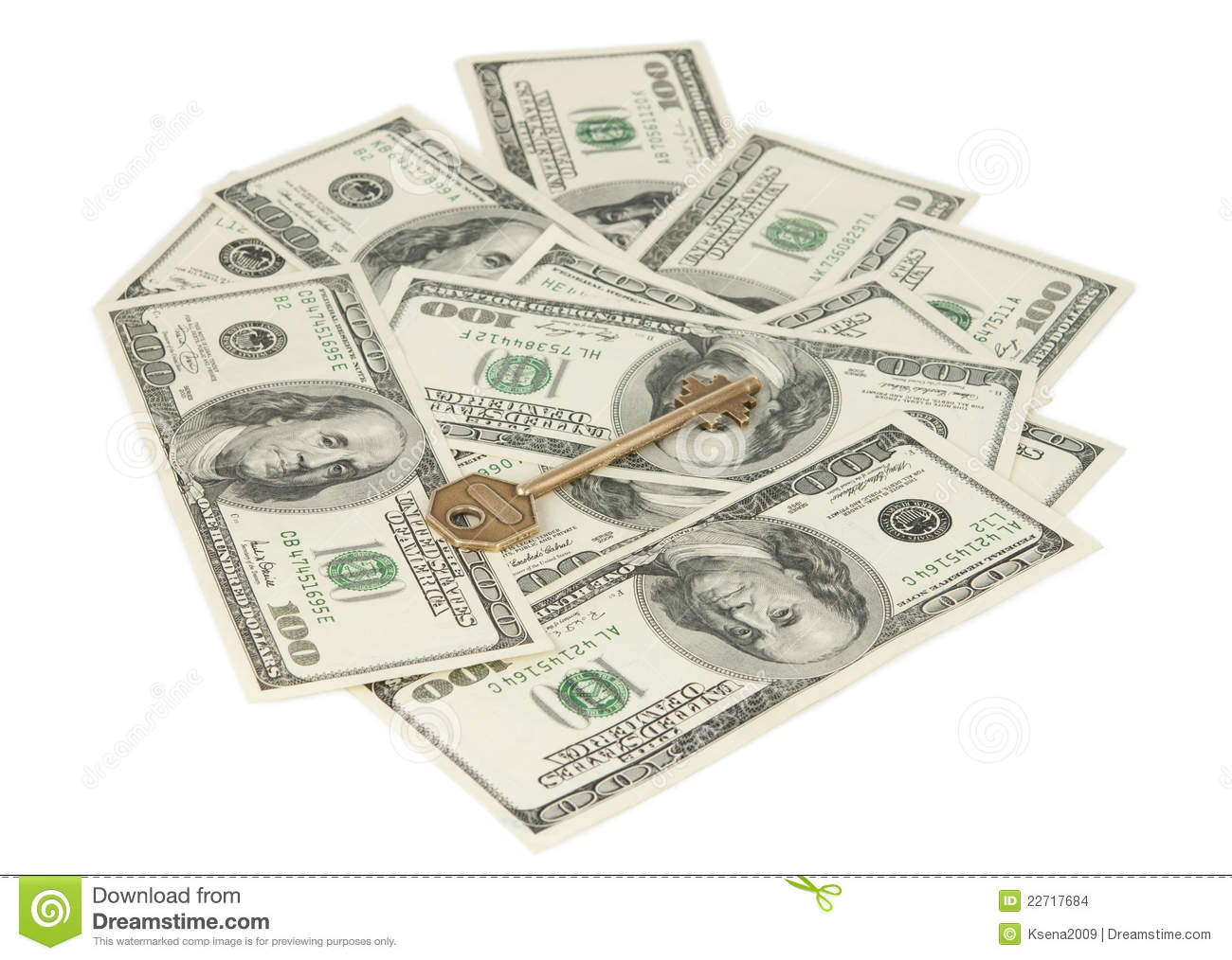 Dollars with a key