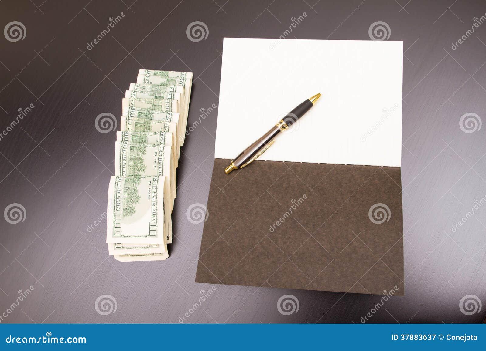 Dollars met een voorbeeldenboek
